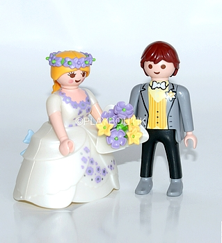 jeunes maries bouquet violet playmobil
