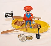 PLAYMOBIL PIRATE AVEC BARQUE
